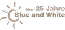 Blue White Logo