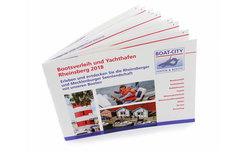 Imagebroschüre / Broschüre für Boat-City Rheinsberg