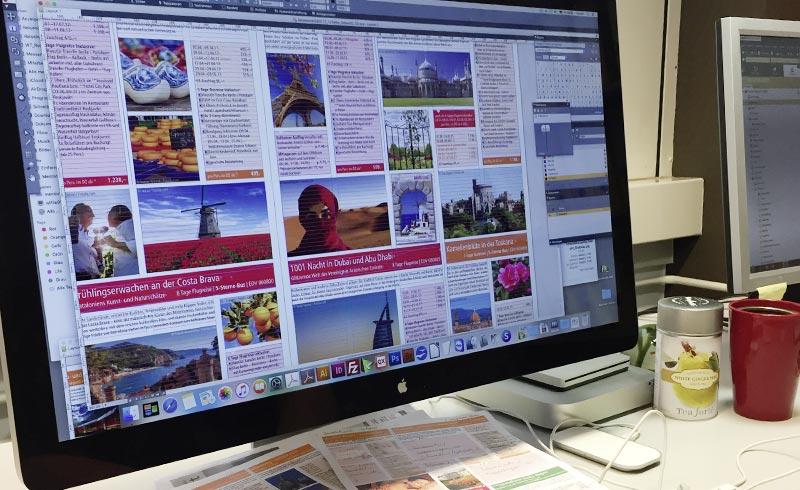 Layout der 12-seitigen Zeitungsbeilage für die Berliner Zeitung