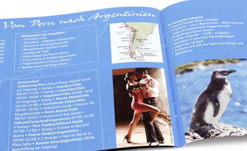 Borschüre mit Kreuzfahrtreise nach Südamerika vom Reiseveranstalter Wörlitz Tourist