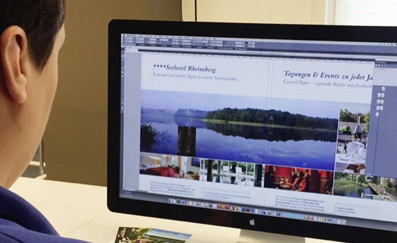 Erstellung Imagebroschüre für das Seehotel Rheinsberg