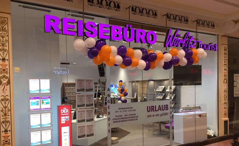 Leuchtreklame Reisebüro Wörlitz Tourist