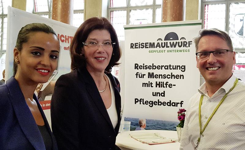 Roll-Up für den Berliner Verein Reisemaulwurf e.V.