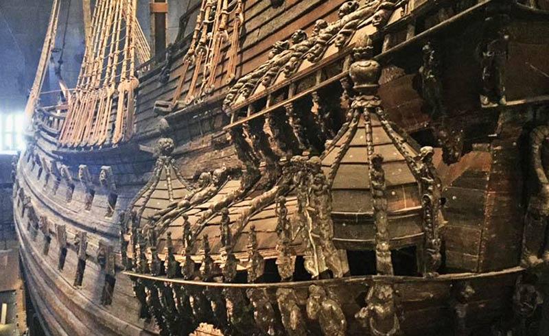Im Vasa Museum in Stockholm