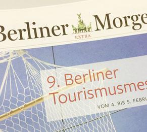 Zeitungsbeilage Berliner Morgenpost zur 9. Berliner Tourismusmesse