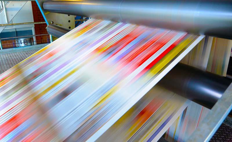 Digitalisierung in der Katalogproduktion - Druckmaschine